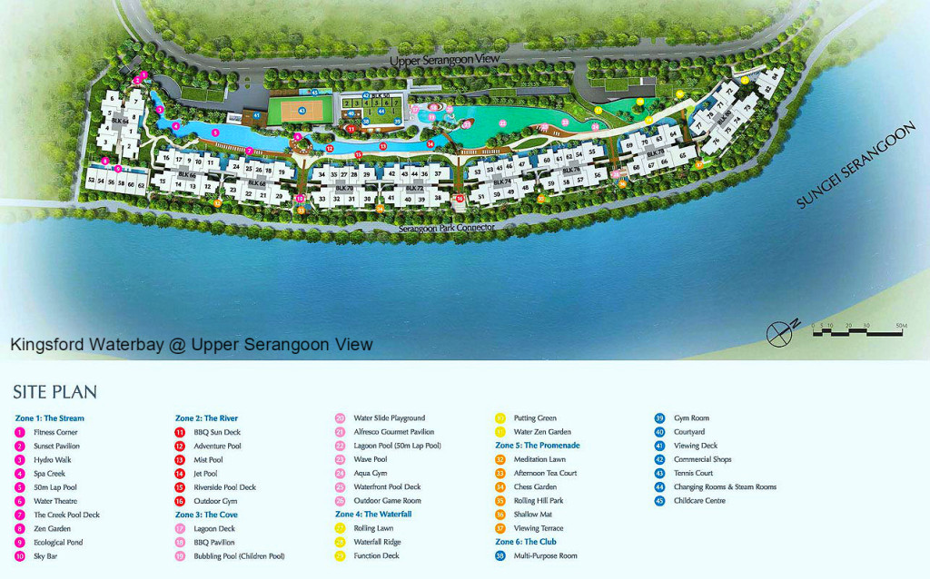 Kingford Waterbay Condo Site Map (kingsfordwaterbaycondo.sg)
