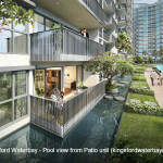 Kingsford Waterbay - Pool view from Patio unit (kingsfordwaterbaycondo.sg)